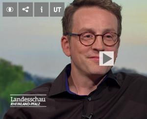 Ulrich Zehfuss beim SWR Landesschau-Interview