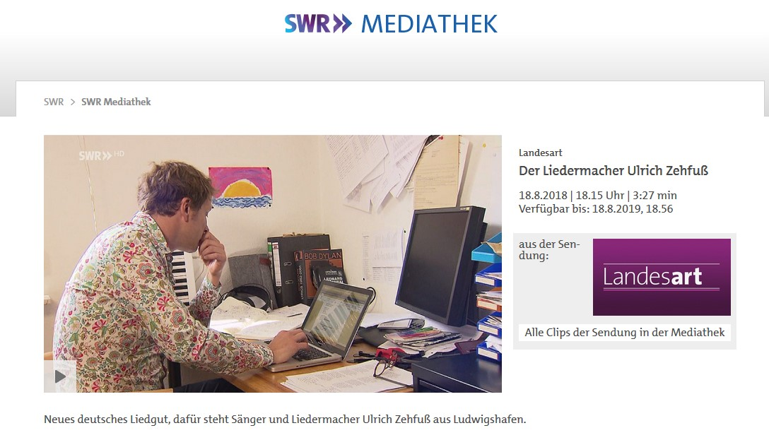 Ulrich Zehfuß SWR Mediathek